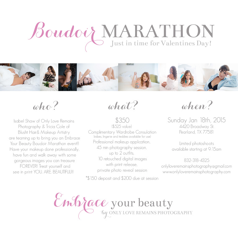 HOUSTON BOUDOIR MARATHON BY ONLY LOVE REMAINS PHOTOGRAPHY