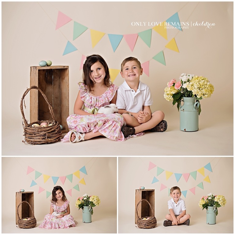 Childrens Easter Mini Sessions Sugarland