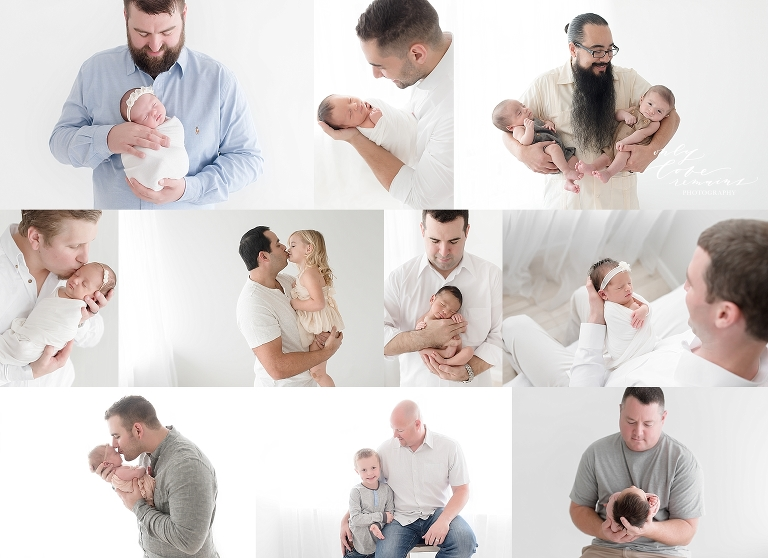 dads loving on their little babies at their session with Houston photographer Only Love Remains Photography